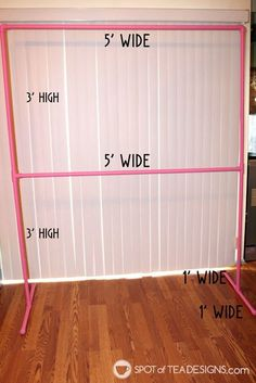 DIY Party Backdrop Stand - dimensions listed and tips on building one - Spotofteadesigns.com