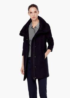 Cotton cashmere-blend coat | MANGO