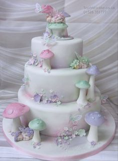 Stunning Christening cake by Sophisticake.Co.UK beautiful fairey cake.
