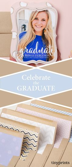 Commemorate this very special occasion with quality graduation announcements from Tiny Prints. Make it unique to you with custom photo options, and choose from a variety of styles including bright and modern announcements for summer graduations, or formal and elegant announcements for winter events. Personalize your announcement with a wide range of colors, styles and details to suit every personality and budget. Cover all your graduation needs with Tiny Prints.