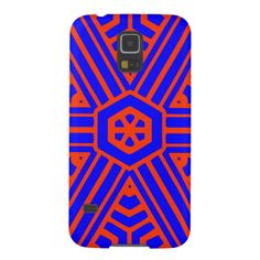 Red blue abstract pattern cases for galaxy s5