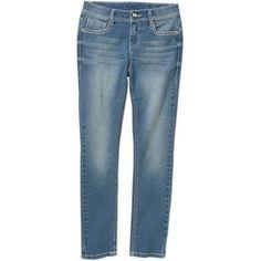 Faded Glory Girls' Fashion Skinny Jeans, Size: 14, Gray