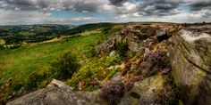 Baslow and Curbar Panorama Pictures Of The Week, Landscape Photography, Landscapes, Mountains, Wall Art, Water, Prints, Travel, Outdoor