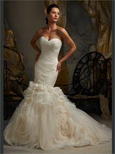 Mermaid Sweetheart Tulle 2013 Wedding Dresses AWD350277
