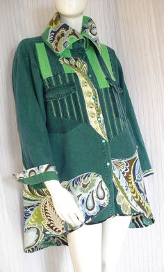 Altered couture wearable art short coat dress upcycled by natatusy, $75.00