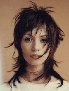 Polaroid germane elle hair : Nicolas Jurnjack www. Punky Hair, Edgy Hair, Choppy Hair, Medium Hair Styles, Curly Hair Styles, Mullet Hairstyle, Shag Hairstyles, Hair 2018, Great Hair