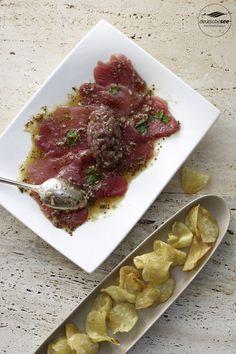 Thunfisch–Carpaccio und –Tartar