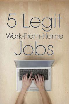 5 Legitimate Work-From-Home Jobs  http://christianpf.com/legitimate-work-from-home-jobs/ work from home jobs, working from home