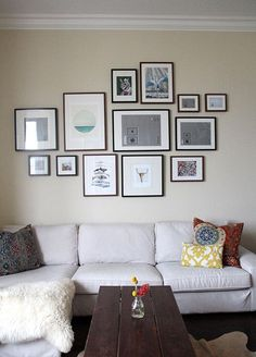 Gallery Wall InspirationWith $200 to spend upfront and a large space to fill, I knew my vision of a gallery wall was not immediately attainable. I would be hard pressed to find just frames for this price, let alone mats and art