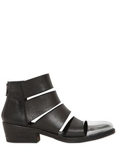 Strategia MIRROR TOED LEATHER BOOTS