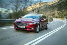 Ακόμα και στη μικρότερη σε κυβισμό και ισχύ έκδοση diesel, το νέο Ford Mondeo καλύπτει με χαρακτηριστική ευκολία μεγάλες αποστάσεις. Στα πλεονεκτήματα της έκδοσης πετρελαίου των 1,6 λίτρων θα πρέπει να συμπεριλάβεις την περιορισμένη κατανάλωση καυσίμου και την πολιτισμένη, τηρουμένων των αναλογιών, λειτουργία http://auto.in.gr/presentations/article/?aid=1231392606 #auto #car #ford #mondo