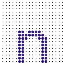 Kralenplank - letter n
