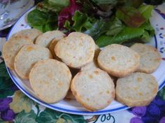 Blue cheese wafers.