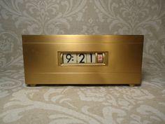 Retro 1960's Brass Digital ClockExcellent by VintageRevivalStudio, $60.00