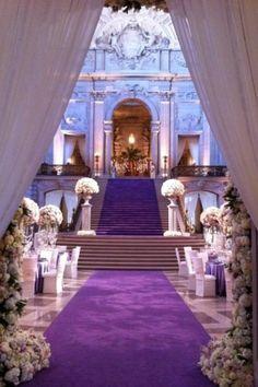 Colorful Wedding Party---Purple Wedding, Part 24 Wedding Aisles, Wedding Bells, Wedding Receptions, Wedding Themes, Wedding Designs, Wedding Events, Wedding Photos, Perfect Wedding, Dream Wedding