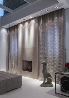 Home Living Room, Living Room Designs, Living Spaces, Bedroom Drapes, Drapes Curtains, Window Curtain Designs, Condo Design, Interior Inspiration, Family Room