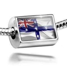 Sterling Silver Charm New South Wales (Australian Federation) 3D Flag - Bead Fi * Check this awesome product by going to the link at the image.