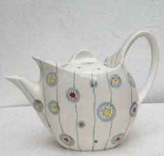 Vintage Midwinter Stylecraft hand painted Festival Jessie Tate teapot c1955