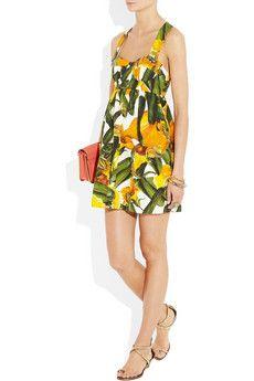 Dolce & GabbanaPrinted brocade mini dress