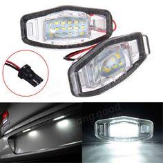 [US$10.99] 2x LED License Plate Light For Honda Civic Accord Odyssey Pilot Acura TL TSX MDX #license #plate #light #honda #civic #accord #odyssey #pilot #acura
