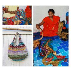 Sari Bag | Patchwork Recycled Sari Purse | UncommonGoods