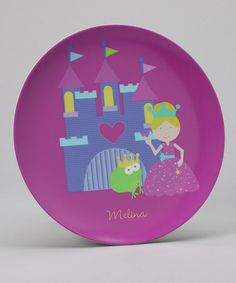 Take a look at this Purple Fairy Princess Personalized Plate by Preppy Plates on #zulily today!