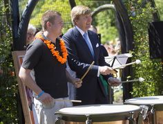 King Willem-Alexander and Queen Maxima of The Netherlands participate in activities during their one day visit to Groningen and Drenthe provinces at Leek on May 28, 2013 in Groningen, Netherlands.