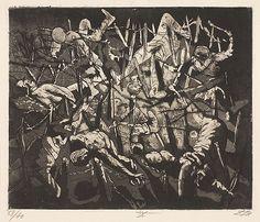 Otto Dix, Totentanz anno 17 (Hohe Toter Mann) [Dance of death 1917 - Dead Man's Hill], plate 19 from Der Krieg (The War).