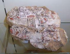 Pedazo de una pared pintada, encontrada en Kar Tikulti Ninurta, capital asiria c. 1200 a. C. fundada por Tukulti-Ninurta I