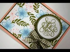 Thank You Garden Card and how to make a double bow