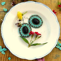 Tamarchi / Black-Turquoise earrings