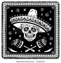Mexican sugar skull cartoon. Vector version. by rvvlada, via ShutterStock