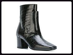 Givenchy schwarze heeled booties Krokodil-Print Leder - Modellnummer: BE09051135 001 - Größe: 39.5 EU - Stiefel für frauen (*Partner-Link)