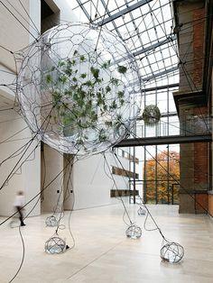 """The Argentine artist Tomás Saraceno's 2009 """"Biospheres"""" installation in Copenhagen, Denmark."""