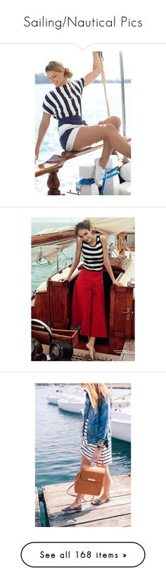 """Sailing/Nautical Pics"" by likepolyfashion ❤ liked on Polyvore featuring modeli, pictures, people, pics, shoes, sandals, striped shoes, leather shoes, leather footwear and leather sandals"