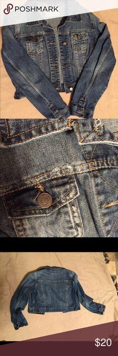 Aeropostale Jean Jacket Aeropostale cropped jean jacket.  Lightly distressed.  Size Medium. Aeropostale Jackets & Coats Jean Jackets