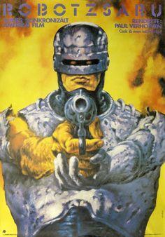 Robocop. Hungarian movie poster, artist: Tibor Helényi.