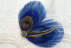 Blue #Peacock #Hair #Fascinator
