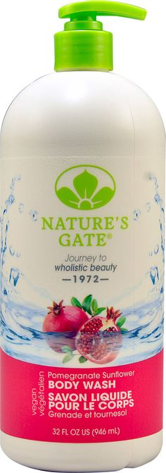 Nature's Gate Body Wash Pomegranate Sunflower