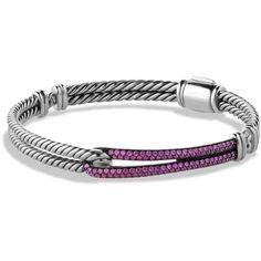 Sterling silver/darkened sterling silver/pavé pink sapphires.