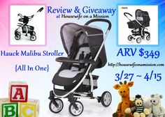 Housewife on a Mission: Strolling Into Spring with the Hauck Malibu All In One Stroller (Day 27)
