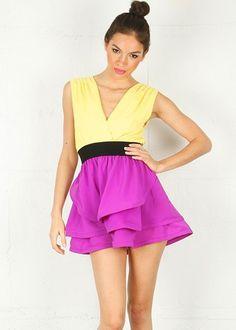 ec1e925f499986 Easter Peplum Dress Yellow Party Dresses