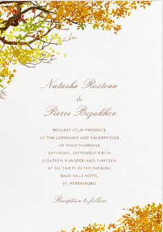 Paperlesspost- Autumn Boughs https://www.paperlesspost.com/cards/category/wedding-invitations?version=paper&page=2&card=23157