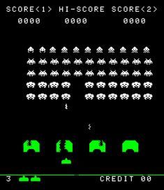 Typography in retro arcade video games like Pacman, Space Invaders, and Retro Videos, Retro Video Games, Space Invaders, Video Game Font, Videogames, Bartop Arcade, I Remember When, My Childhood Memories, My Memory