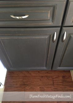 Chalk Paint® decorative paint by Annie Sloan in Graphite with a Dark wax topcoat to finish it off.