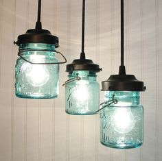 Cute idea for accent lighting / I might try painting the inside of the jar as if it were fruit... would look like home canning and also make the light softer