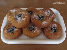 Šišky s džemom No Bake Cake, Bagel, Doughnut, Food And Drink, Bread, Baking, Hampers, Brot, Bakken