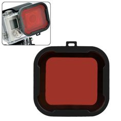 [USD1.84] [EUR1.65] [GBP1.31] Polar Pro Aqua Cube Snap-on Dive Housing Filter for GoPro HERO4 /3+(Red)