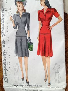 Two piece 1940s pattern