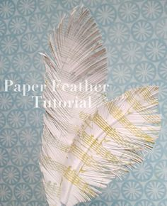 Tips & Tricks Thursdays — Skipping Stones Design  --  stamp and cut a PAPER FEATHER  -- excellent!  --  J